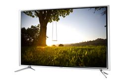 Super-slim TV in steel frame